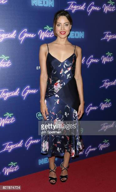Actress Aubrey Plaza attends The New York premiere of Ingrid Goes West hosted by Neon at Alamo Drafthouse Cinema on August 8 2017 in the Brooklyn...
