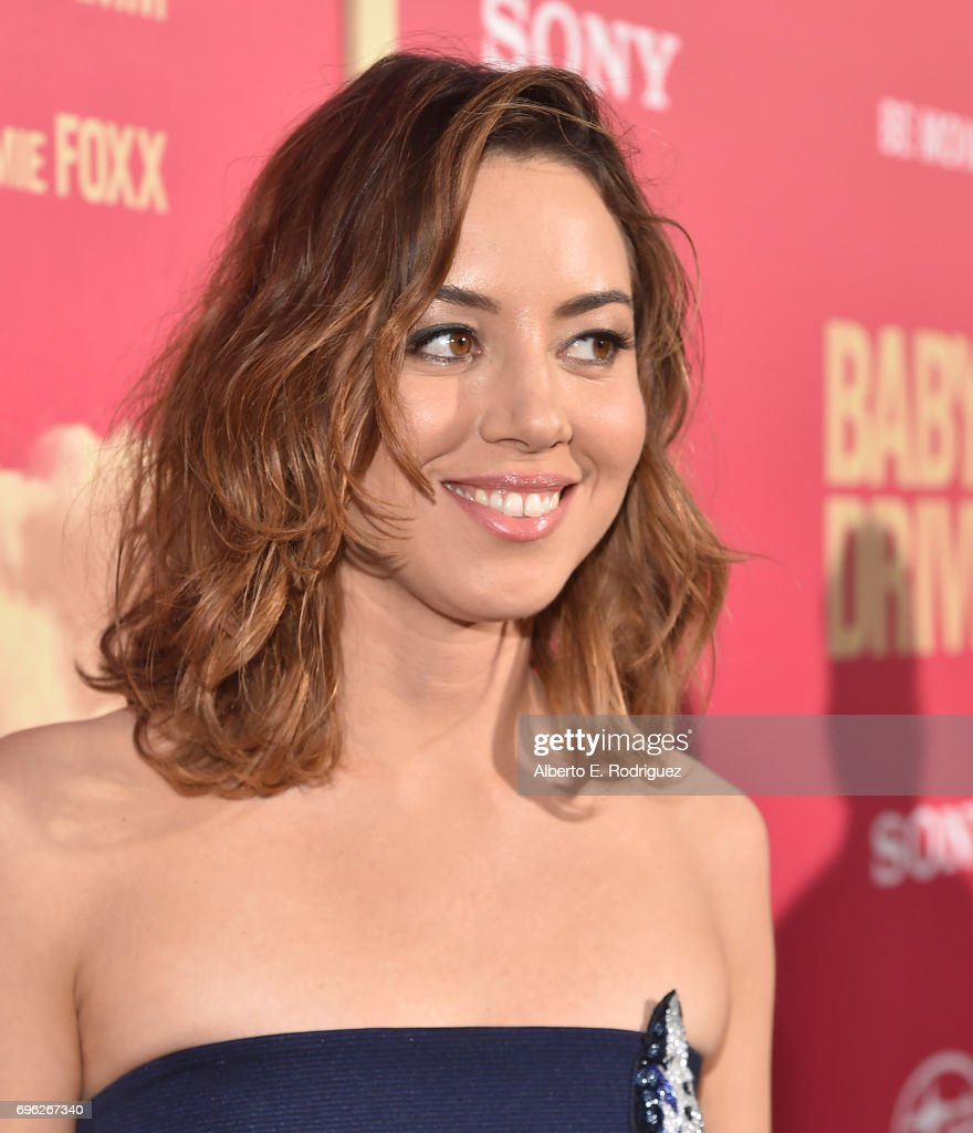 Actress Aubrey Plaza attends the premiere of Sony Pictures' 'Baby Driver' at Ace Hotel on June 14, 2017 in Los Angeles, California.