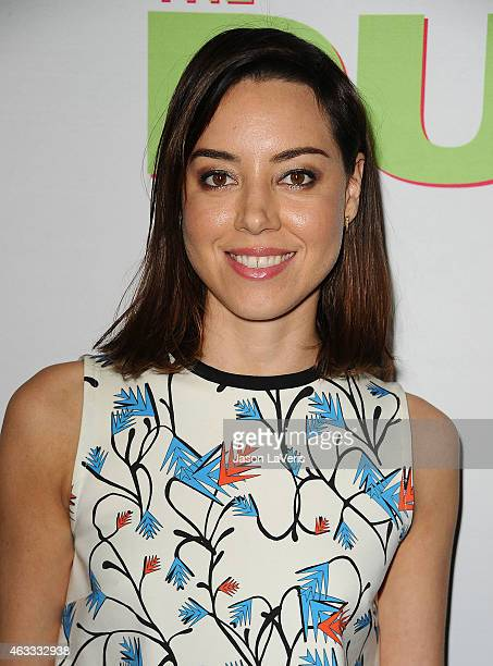 Actress Aubrey Plaza attends the premiere of The Duff at TCL Chinese 6 Theatres on February 12 2015 in Hollywood California