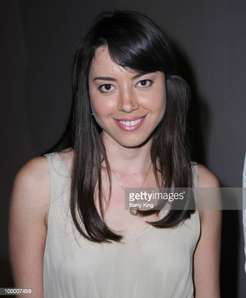Actress Aubrey Plaza attends the reception for NBC's Parks and Recreation Emmy Screening held at the Leonard H Goldenson Theatre on May 19 2010 in...