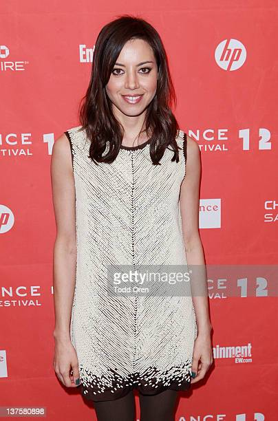 Actress Aubrey Plaza attends the Safety Not Guaranteed premiere during the 2012 Sundance Film Festival held at Prospector Square Theatre on January...