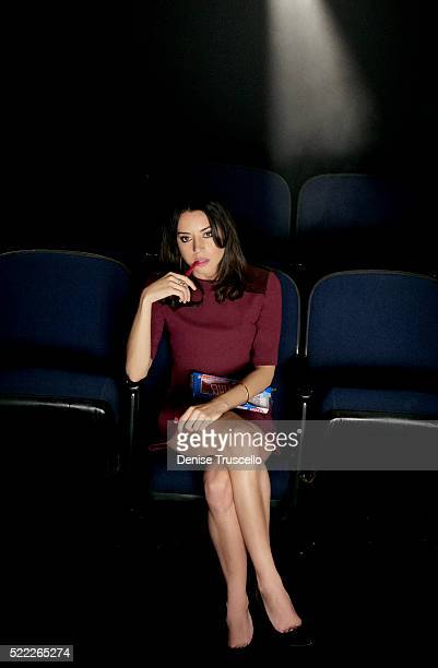 Actress Aubrey Plaza poses for a portrait at CinemaCon 2013 on April 18 2013 in Las Vegas Nevada