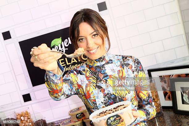 Actress Aubrey Plaza shared a spoon with Breyers Gelato Indulgences in support of Film Independent at the 30th Annual Film Independent Spirit Awards...