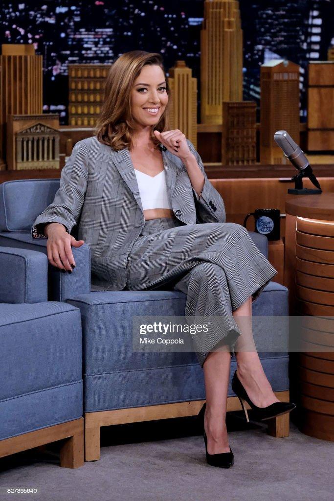 "Aubrey Plaza Visits ""The Tonight Show Starring Jimmy Fallon"""