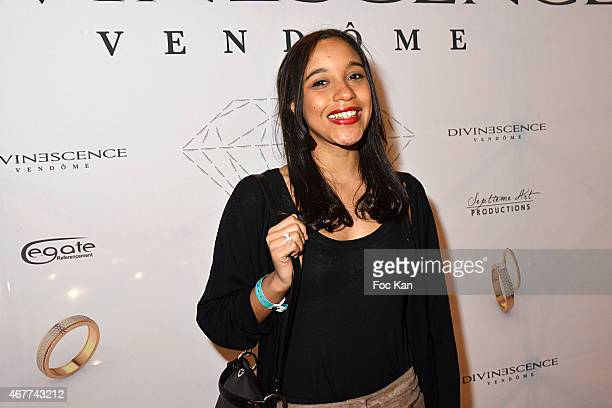 Actress Aude Forget attends the 'Diamond Night by Divinescence Vendome' Harumi Klossowska Jewellery Exhibition Preview As Part Of Art Paris Art Fair...