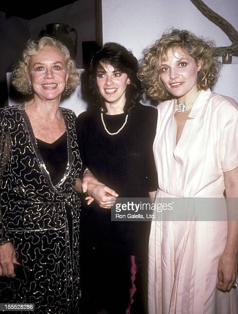 Actress Audra Lindley actress Patricia Charbonneau and Helen Shaver attend the Desert Hearts New York City Premiere on March 31 1986 at City Cinemas...