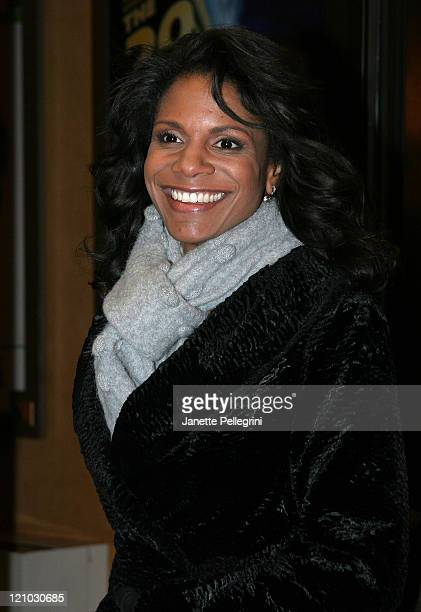 Actress Audra McDonald arrives at the Broadway opening night of 39 Steps at the American Airlines Theater on January 15 2008 in New York City