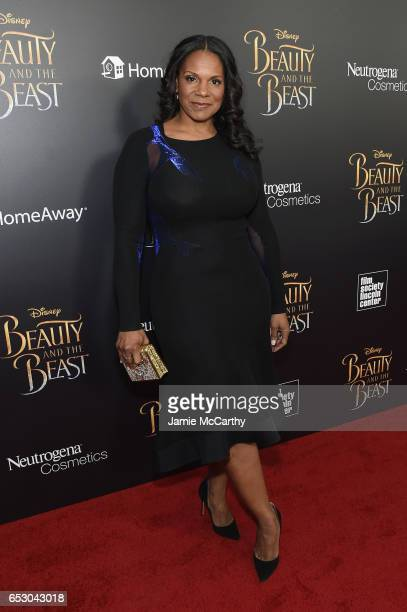 Actress Audra McDonald arrives at the New York special screening of Disney's liveaction adaptation 'Beauty and the Beast' at Alice Tully Hall on...