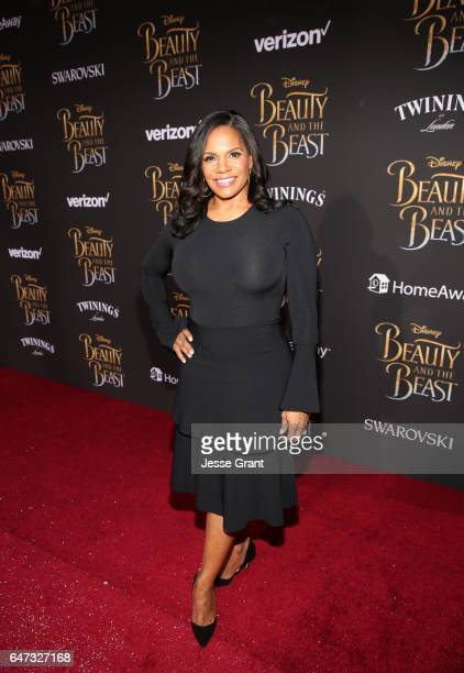 Actress Audra McDonald arrives for the world premiere of Disney's liveaction 'Beauty and the Beast' at the El Capitan Theatre in Hollywood as the...