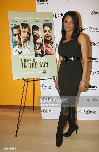 Actress Audra McDonald attends 'A Raisin in the Sun' TimesTalks Photo Call in TheTimesCenter on February 4 2008 in New York City