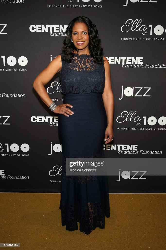 Actress Audra McDonald attends the 2017 Jazz At Lincoln Center Gala: Ella At 100: Forever The First Lady of Song, at Frederick P. Rose Hall, Jazz at Lincoln Center on April 26, 2017 in New York City.