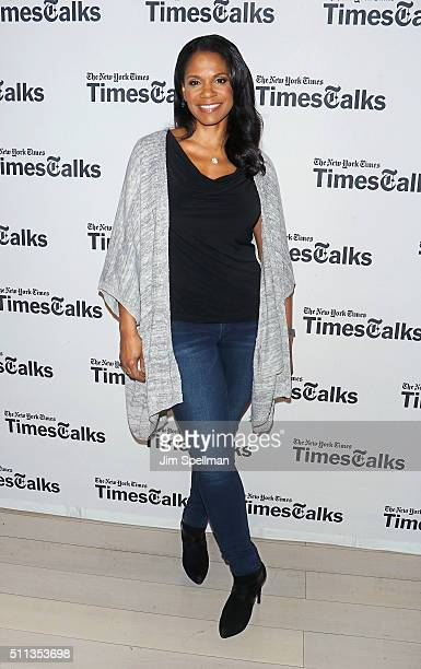 Actress Audra McDonald attends TimesTalks Presents Audra McDonald and George C Wolfe at TheTimesCenter on February 19 2016 in New York City
