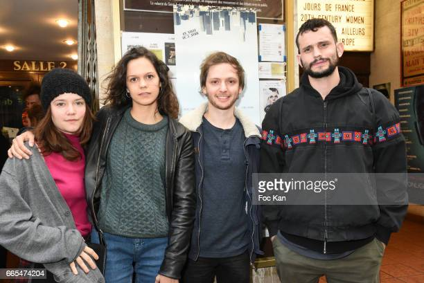 Actress Audrey Bastien actress Delia Espinat Dief director Laurier Fourniau and actor Pedro Fontaine attend 'Low Notes' Film Screening at Cinema...