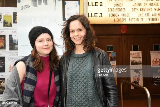 Actress Audrey Bastien and actress Delia Espinat Dief attend 'Low Notes' Film Screening at Cinema Saint Andre des Arts on April 6 2017 in Paris France