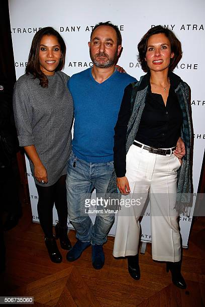 Actress Audrey Chauveau Designer Dany Atrache and guest attend the Dany Atrache Spring Summer 2016 show as part of Paris Fashion Week on January 25...
