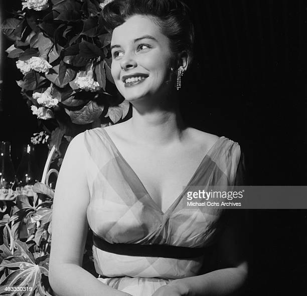 Actress Audrey Dalton attends a wedding in Los Angeles California