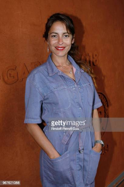Actress Audrey Dana attends the 2018 French Open Day Ten at Roland Garros on June 5 2018 in Paris France