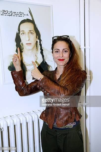 Actress Audrey Dana attends the 55 Politiques Exhibition of Stephanie Murat's Pictures Opening Party at Galerie Dupin on June 9 2016 in Paris France
