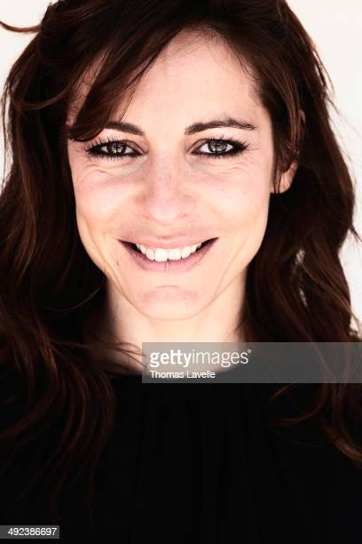 Actress Audrey Dana is photographed for Self Assignment on May 17 2014 in Cannes France