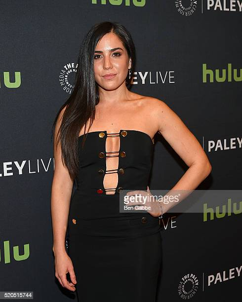 Actress Audrey Esparza attends PaleyLive NY An Evening With The Cast Creator Of Blindspot at The Paley Center for Media on April 11 2016 in New York...