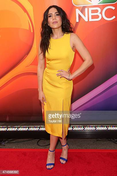 Actress Audrey Esparza attends the 2015 NBC Upfront Presentation Red Carpet Event at Radio City Music Hall on May 11 2015 in New York City
