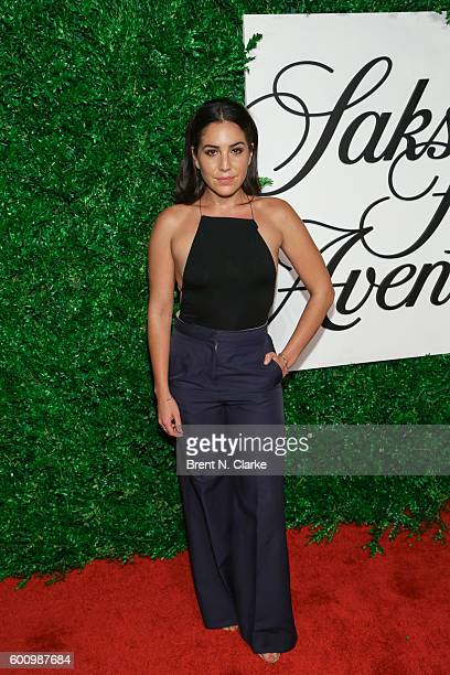 Actress Audrey Esparza attends the Saks Downtown x Vogue event held at Saks Downtown on September 8 2016 in New York City