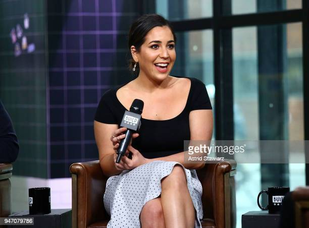 Actress Audrey Esparza discusses the NBC drama Blindspot at Build Studio on April 16 2018 in New York City