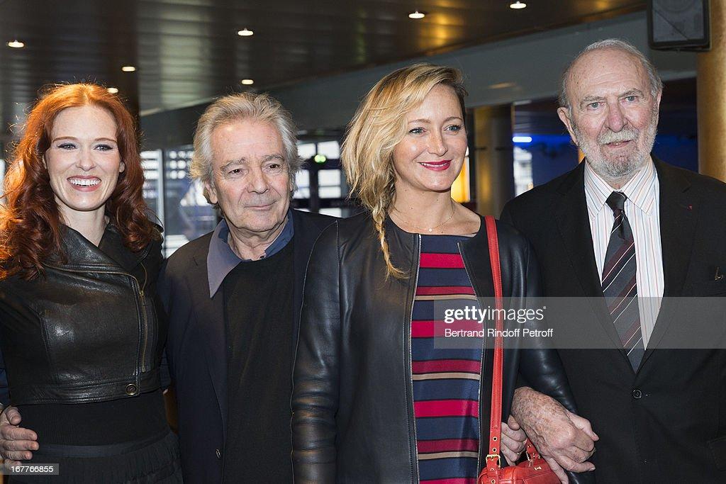 Actress Audrey Fleurot, actor Pierre Arditi, actress Julie Ferrier and actor Jean-Pierre Marielle attend the premiere of 'La Fleur De L'Age' at UGC Cine Cite Bercy on April 29, 2013 in Paris, France.