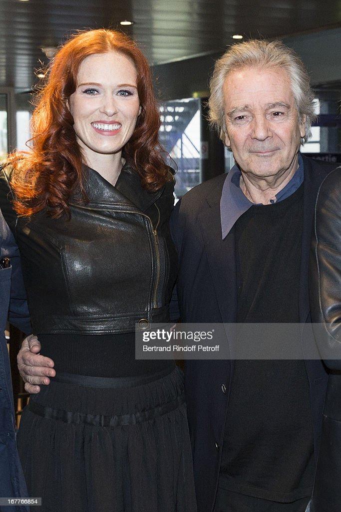 Actress Audrey Fleurot and actor Pierre Arditi attend the premiere of 'La Fleur De L'Age' at UGC Cine Cite Bercy on April 29, 2013 in Paris, France.