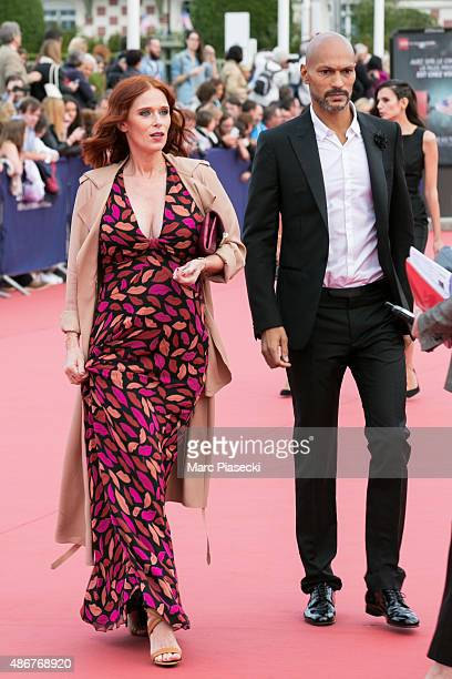 Actress Audrey Fleurot and Djibril Glissant arrive to attend the 41st Deauville American Film Festival opening ceremony on September 4 2015 in...