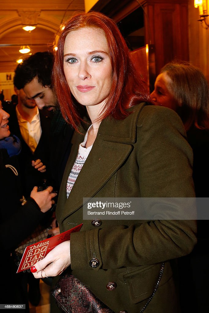 Actress Audrey Fleurot Attends La Porte A Cote Theater Play