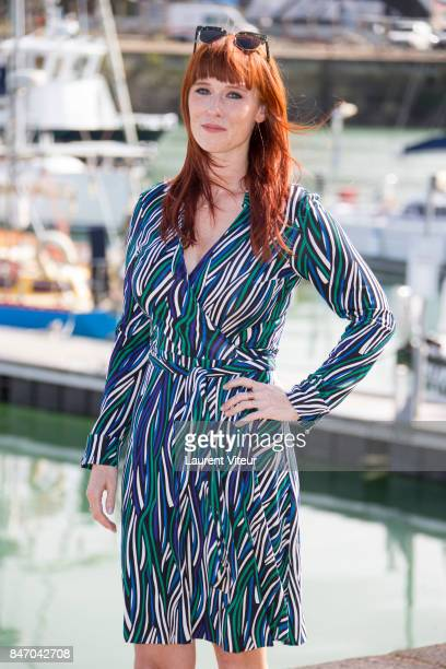 """Actress Audrey Fleurot attends """"Peur sur La Base"""" Photocall during the 19eme Festival of TV Fiction on September 14, 2017 in La Rochelle, France."""