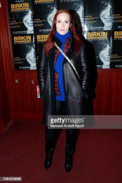 "Actress Audrey Fleurot attends the ""Birkin / Gainsbourg - Le Symphonique"" Concert by Jane Birkin at Le Comedia on December 18, 2018 in Paris, France."