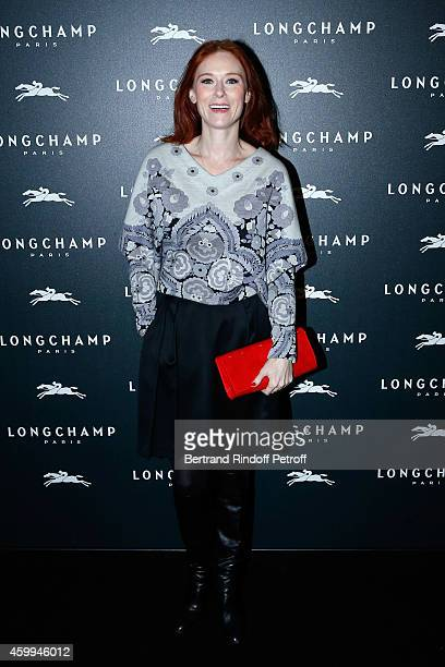 """Actress Audrey Fleurot attends the Longchamp Elysees """"Lights On Party"""" Boutique Launch on December 4, 2014 in Paris, France."""