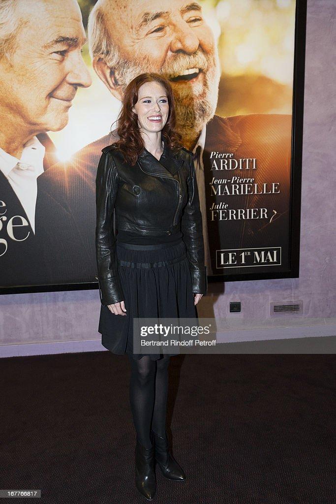 Actress Audrey Fleurot attends the premiere of 'La Fleur De L'Age' at UGC Cine Cite Bercy on April 29, 2013 in Paris, France.