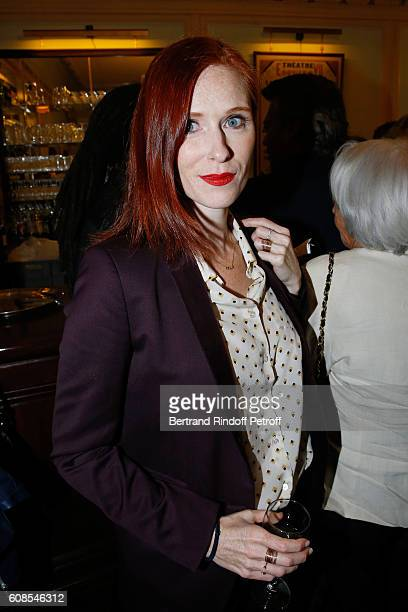 """Actress Audrey Fleurot attends the """"Tout ce que vous voulez"""" : Theater Play at Theatre Edouard VII on September 19, 2016 in Paris, France."""