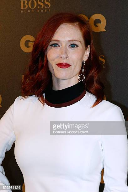 Actress Audrey Fleurot, dressed in Thierry Mugler, attends the GQ Men of the Year Awards 2016 : Photocall at Musee d'Orsay on November 23, 2016 in...