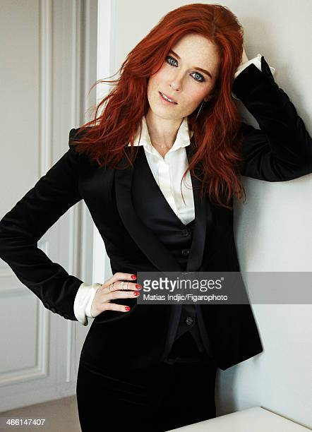 106860004 Actress Audrey Fleurot is photographed for Madame Figaro on May 29 2013 in Cannes France Three piece suit and shirt rings CREDIT MUST READ...