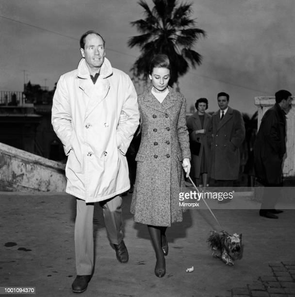 Actress Audrey Hepburn and her husband Mel Ferrer photographed in Rome 8th January 1960