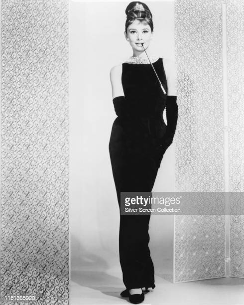 Actress Audrey Hepburn as Holly Golightly in a publicity shot for the film 'Breakfast at Tiffany's' 1961