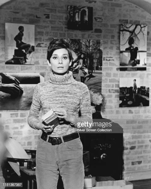 Actress Audrey Hepburn as Susy Hendrix in the film 'Wait Until Dark', 1967.
