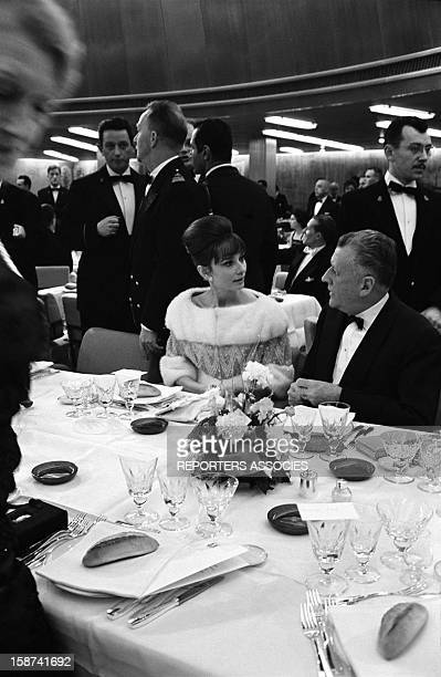 Actress Audrey Hepburn at the 'Bal des Petits Lits Blancs' on board of Liner France on January 1962 in France