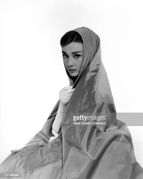 Actress Audrey Hepburn in a publicity shot for the musical film 'Funny Face' 1957