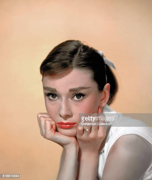 Actress Audrey Hepburn poses for a publicity still circa 1957