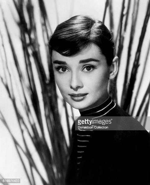 Actress Audrey Hepburn poses for a publicity still circa 1957