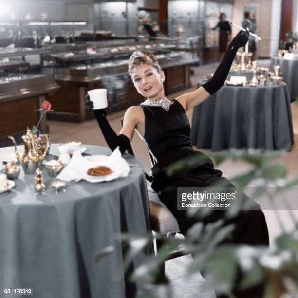 Actress Audrey Hepburn poses for a publicity still for the Paramount Pictures film 'Breakfast at Tiffany's' in 1961 in New York City New York