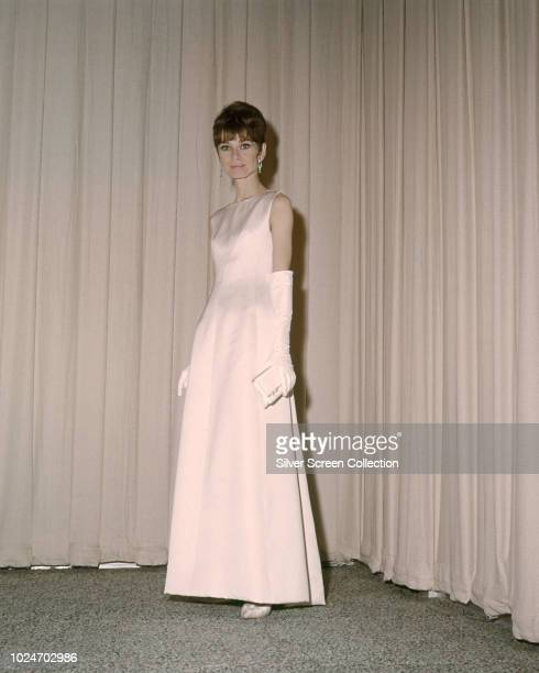 Actress Audrey Hepburn star of the film 'My Fair Lady', at the 37th Academy Awards in Santa Monica, California, 5th April 1965.