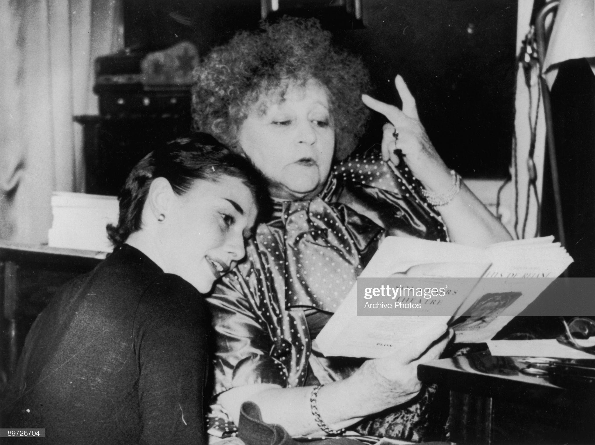 Hepburn And Colette : News Photo