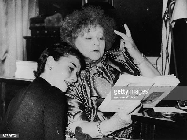 Actress Audrey Hepburn with French writer Colette circa 1951 Hepburn played the lead in the Broadway play 'Gigi' based on Colette's novel of the same...