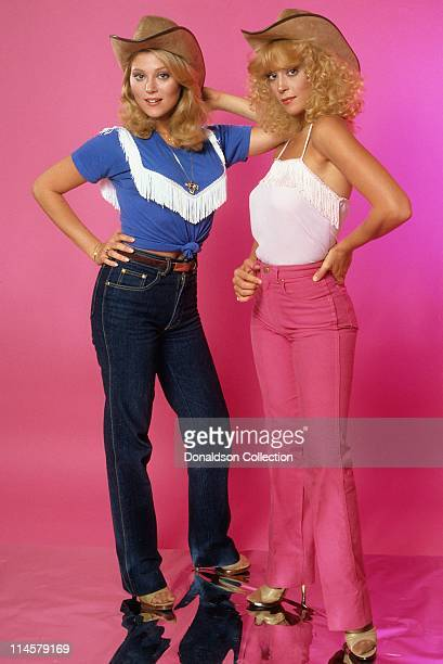 Actress Audrey Landers and Actress Judy Landers pose for a portrait in circa 1985 in Los Angeles California